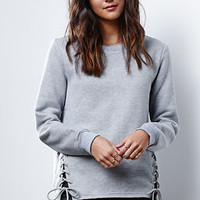 Glamorous Tie-Up Crew Neck Sweatshirt at PacSun.com