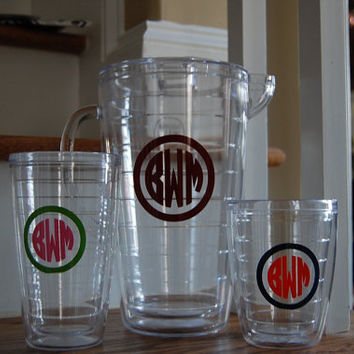 Double Walled Acrylic BPA-free 19 oz tumbler Monogram or personalize with a name or intial(s)