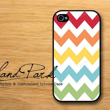 Colourful Chevron iPhone 4 Case, iPhone 4s Case, iPhone Case, iPhone hard Case