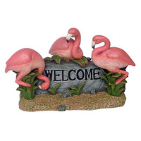 Park Avenue Collection Pink Flamingo Welcome Sign