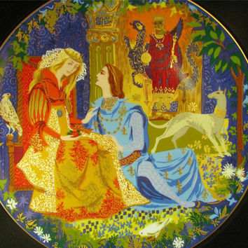 ANNA PERENNA Lancelot and Guinevere Romantic Love Series Collector Plate New! mib!