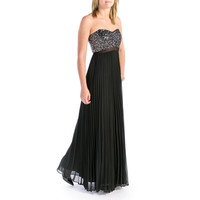 Aqua Womens Strapless Prom Evening Dress