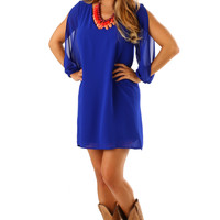 What's My Line Dress: Royal Blue