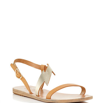 Monogrammable Fotini Sandals in Natural Vachetta