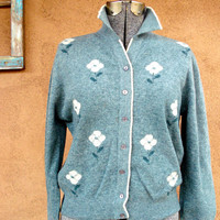 Vintage 1950s Cardigan Sweater Lambs Wool Colebrook 2013587