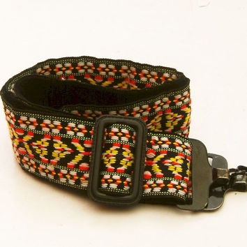 Vintage 1970's Woven Hippie Camera Strap for Film or by BrassLens