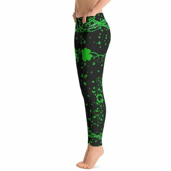 Saint Patricks Day Elegant Clover Leggings