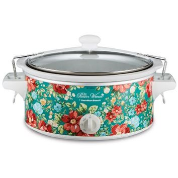 Pioneer Woman 6 Quart Portable Slow Cooker Vintage Floral | Model# 33362 By Hamilton Beach - Walmart.com