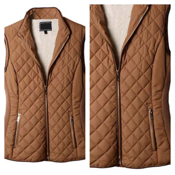 A Rider Vest in Camel