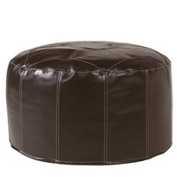 Howard Elliott Pouf Foot Ottoman, Avanti Pecan  - Howard Elliott 871-192