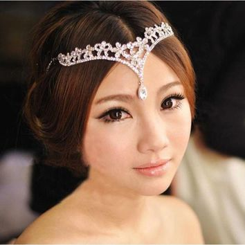 ONETOW The bride crown headdress frontlet wedding dress accessories = 1930161284