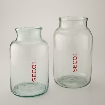 SECO Glass Jar with Decal