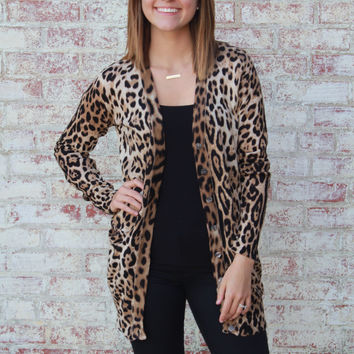 Leopard Print Cardigan from Plum Pretty Boutique | Boutique