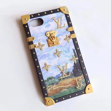 LV 2017 Hot Sale!Popular iPhone X iPhone 8 iPhone 7 iPhone 7 plus - Stylish Cute Embroidery Pattern Print On Sale Hot Deal Matte Couple Phone Case For iphone 6 6s 6plus 6s plus I-AL-BSYHD-1