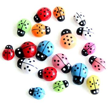Cute Plastic Assorted Colours 3D Ladybirds Stickers. 9mm x 13mm. Ideal for the Easter Holidays, Scrapbooking, Cardmaking & Decorating.