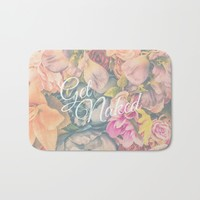 Get Naked Floral Bath Mat by The Backwater Co