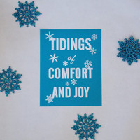 Comfort And Joy Art Print. Holiday Art. Christmas Typography Print. 8x10.