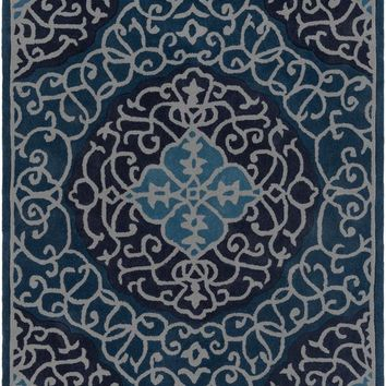 Surya Cosmopolitan Medallions and Damask Blue COS-9290 Area Rug