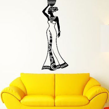Wall Decal Girl India Africa Woman Tradition History Vinyl Stickers (ed126)