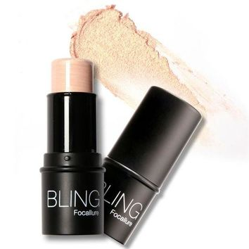 DCCKHY9 Water-proof Silver Shimmer Light Texture Highlighter Focallure Bling stick All Over Shimmer Highlighting Powder Creamy New Style
