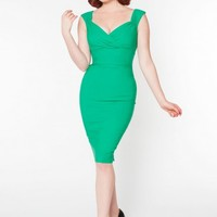 Erin Dress in Lucky Green