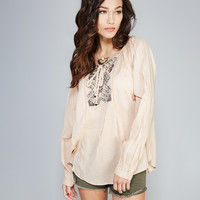 Angie™ Embroidered Peasant Blouse | Wet Seal