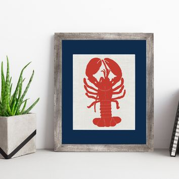Red Lobster (White Burlap)