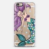 HAPPY MERMAID CLEAR CASE iPhone 6s case by Debcu Studio | Casetify