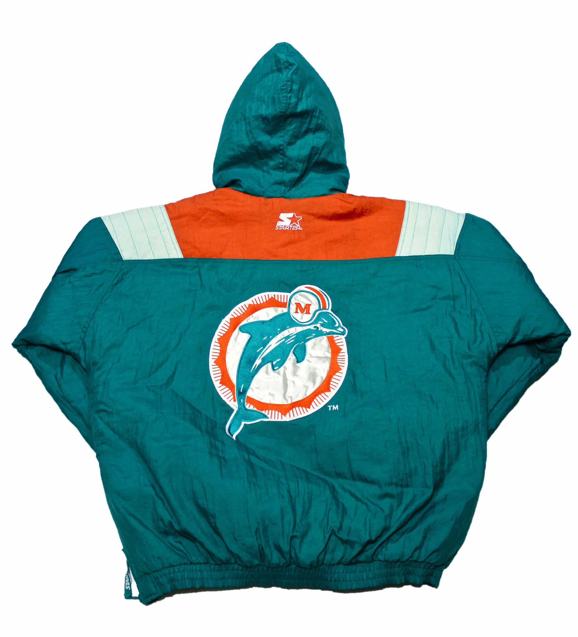 low priced b3b3e 844fa Vintage 90s Miami Dolphins Starter Jacket Mens Size Large