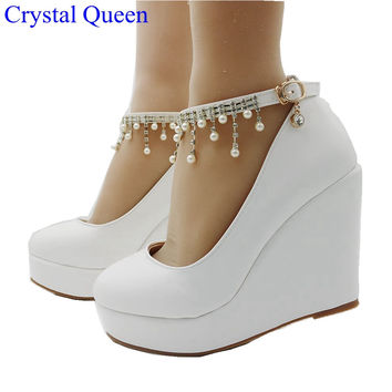 11cm women Elegant heels wedges shoes pumps for women wedges high heels platform wedges shoes white wedges shoes plus size 34-41