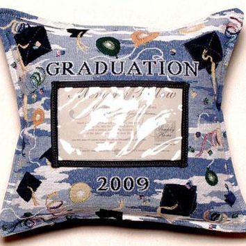 Graduation 2009 Photo Throw Pillow - One Side Design