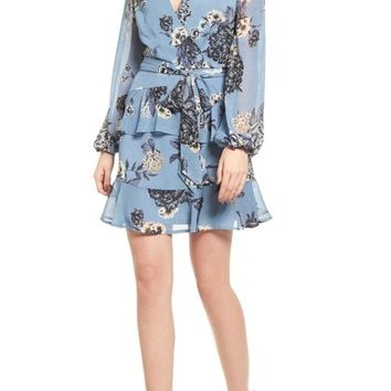 Love, Fire Floral Wrap Style Dress | Nordstrom