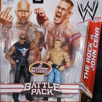 THE ROCK & JOHN CENA - WWE BATTLE PACKS 15 WWE TOY WRESTLING ACTION FIGURE 2-PACKS