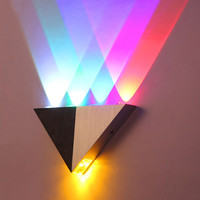 Aluminum Triangle Led Wall Lamp