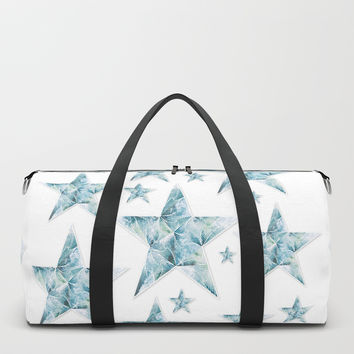 Frosted Star Duffle Bag by angelocerantola