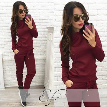 Solid Color Jogging Suit