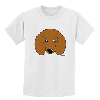 Cute Doxie Dachshund Dog Childrens T-Shirt by TooLoud