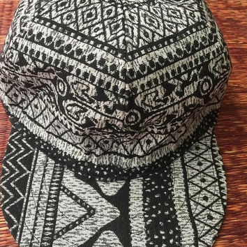 Aztec Ikat Boho Cap Unique Festival Men women baseball cap Hippie Vegan Hipster Festival accessories Summer fashion gift for her him cycling