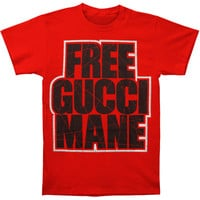 Gucci Mane Men's  Free Gucci Red T-shirt Red