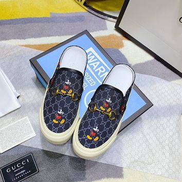 GUCCI Mickey Mouse fashion casual shoes