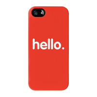 Hello Full Wrap High Quality 3D Printed Case for iPhone 5 / 5s by textGuy