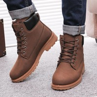 Men boots fashion Winter ankle snow shoes 2016