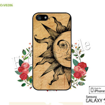 Phone case iPhone 5/5S/5C Case, iPhone 4/4S Case, The sun, S3 S4 S5 Note 2 Note 3 Case for iPhone-B0206
