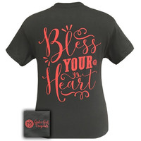 Girlie Girl Southern Originals Bless Your Heart Charcoal T-Shirt