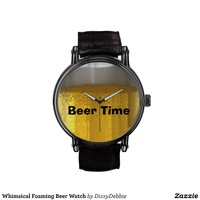 Whimsical Foaming Beer Watch from Zazzle.com