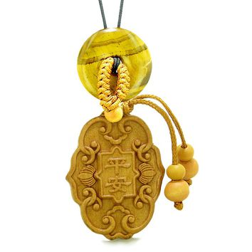 Feng Shui Lucky Symbols Car Charm or Home Decor Tiger Eye Donut Protection Powers Magic Amulet