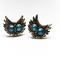 Owl Crystal Eye ear studs