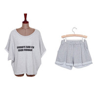 Cotton Knitted Shorts Pajama Set