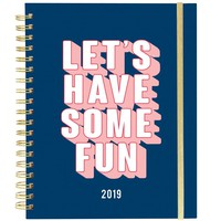 Let's Have Some Fun Large Wiro Agenda 2019 Journal in Blue
