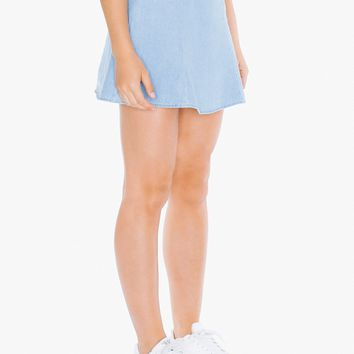 Denim Lulu Mini Skirt | American Apparel